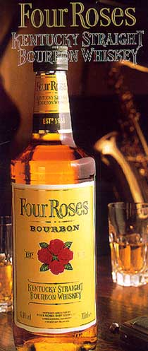 View of Four Roses Kentucky Straight Bourbon Whiskey